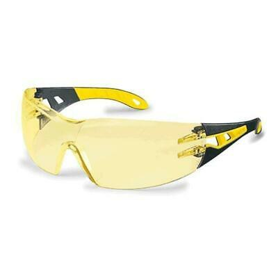 NEW UVEX Safety Glasses PHEOS - Amber Lens uvex Botanex