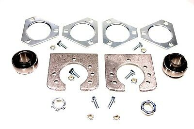 """New Go-cart Gocart Live Axle Bearing Kit for 1"""" Axle, 3 Hole Flange"""
