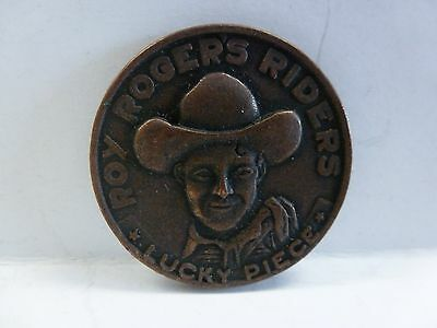 Vintage ROY ROGERS RIDERS LUCKY PIECE GOOD LUCK FOREVER TRIGGER Token Medal
