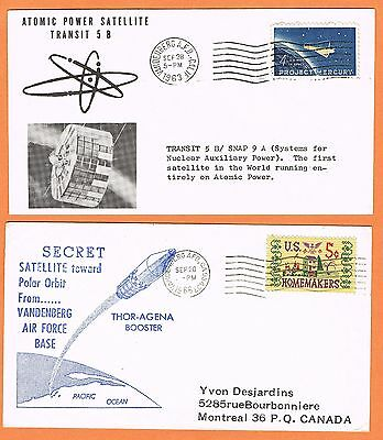 USA 1963-76 selection of Vandenberg AFB covers for six satellite experiments