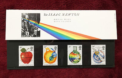 Issac Newton Royal Mail 1987 Stamp Set - Collector Presentation Pack & Documents