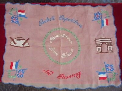 British Expedition No Passing - Remembrance From France Silk Handkerchief