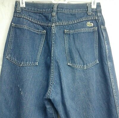 VTG IZOD Lacoste Denim Jeans Mom Preppy Alligator Patch 80s High Waisted Flawed