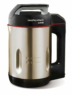 New Morphy Richards 501014 Sauté and Soup 1.6 Litres Soup Maker Stainless Steel
