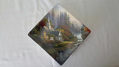 "The Bradford Exchange ""The Forest Chapel"" Thomas Kinkade collectible plate"