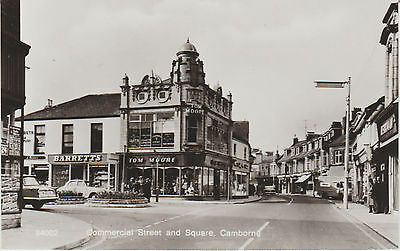 Camborne - Commercial Street And Square  -  Real Photo- Postcard #