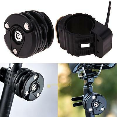 Bike Bicycle Anti-Theft Chain Mini Folding Security Steel Hamburg Lock black key