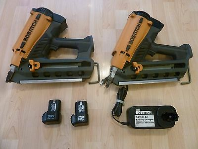 Bostitch GF33PT Cordless battery 7.2v + gas power Framing Nailer  lot of  2