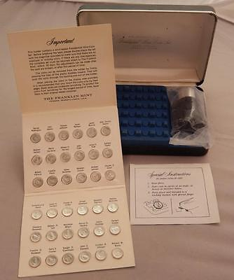 Franklin Mint Presidential Sterling Silver 36 Mini-Coin Set w/ Magnifier A189A