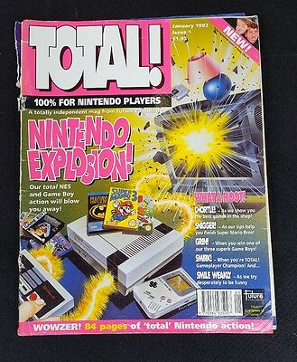 Total Magazine First Issue Number 1 Nintendo Nes collectable computer retro game