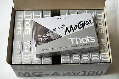 10x THAT's MG-A 100 Metal Cassette Tapes 1993 + OVP + SEALED + IN BOX +