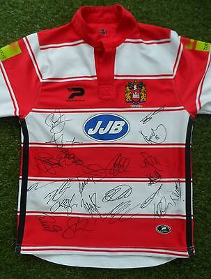 Wigan Warriors Shirt Hand Signed by 2017 Squad - Rugby League - 22 Autographs