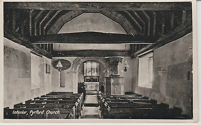 Pyrford - Interior - Church   -Real Photo  Postcard #