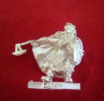 Warhammer Lord of the rings reconditioned metal DWARF CAPTAIN 1