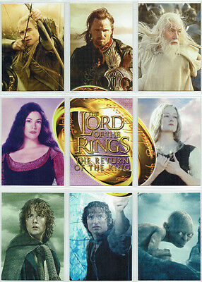 Lord Of The Rings Return of The King ROTK 9 Card UK Exclusive Binder Set R1 - R9