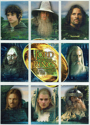 Lord Of The Rings Fellowship of the Ring 9 Card UK Exclusive Binder Set A1 - A9