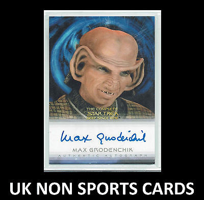 Quotable Star Trek Deep Space Nine DS9 Autograph Card Max Grodenchik as Rom