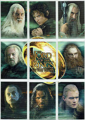 Lord Of The Rings The Two Towers TTT 9 Card UK Exclusive Binder Set B1 - B9
