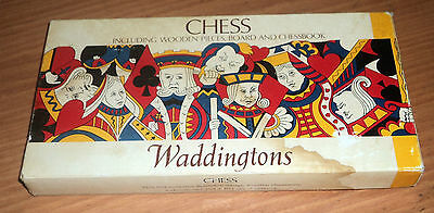 Antiguo Ajedrez Ingles 1973 - Chess Waddingtons - Piezas De Madera