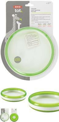 Oxo Tot Plate With Removable Training Ring - Green