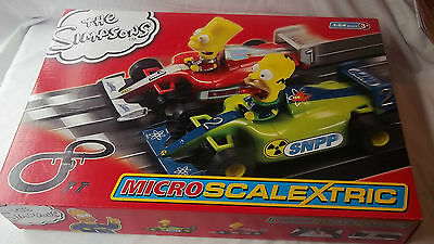 Micro SCALEXTRIC-The Simpsons Track Set-BRAND NEW BOXED-1:64 Scale-Age 3+
