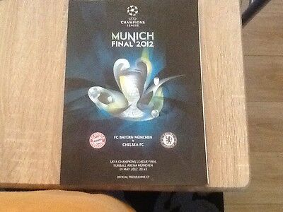 2012 UEFA CHAMPIONS LEAGUE FINAL CHELSEA v BAYERN MUNICH  PROGRAMME