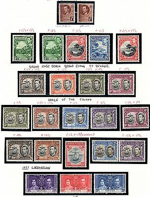 Grenada 1937-50 set SG152-163 - incl different perfs and shades & coronation-LHM