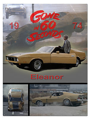 Gone in 60 seconds , Mustang - METAL POSTER + TIN SIGN classic TV car sign