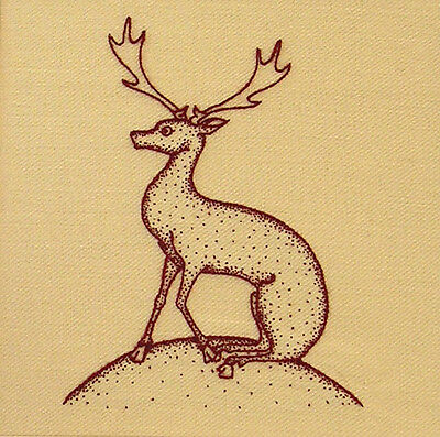 """Crewelwork Embroidery Kit """"Heritage Deer"""" By Melbury Hill"""