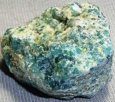 Apatite rough-blue-green,specimen,34x30x24(1)137.5ct,AP-A74,earth grown crystal