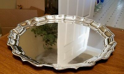Frank W Smith Chippendale Tray - 212 American Sterling Silver - Art Deco