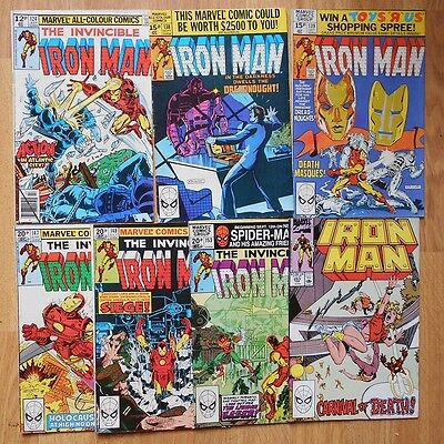 Iron Man Issues 124, 138, 139, 147, 148, 153 & 253: VG Condition!