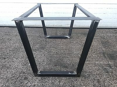 2x Bare Box Trapezium Table Legs. Industrial Chic, Square Or Rectangle Steel