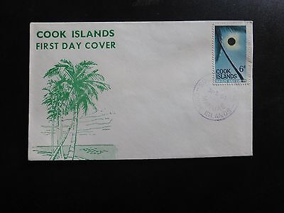Cook Islands First Day Cover: Solar Eclipse 1965