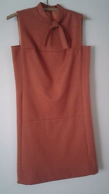 Vintage Helen Whiting Union Made sheath dress, rust dress size 7/8 from 1960's