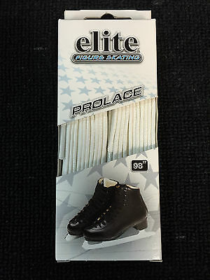 Elite Figure Skating Regular Moulded Tip Laces! Pure White, All Sizes Skates