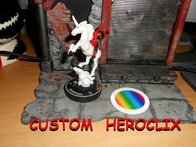 CUSTOM Heroclix DEADPOOL #069 and X-Force Deadpool 069 Unicorn Rainbow