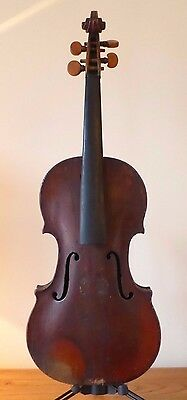 offer  RARE c18/19th ANTIQUE BAROQUE ENGLISH VIOLIN 4/4 - + CASE -  viola  cello
