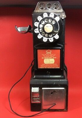 Northern Electric 3 Slot Coin Payphone Vintage Telephone To Restore Or For Parts