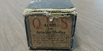QRS Piano Player Roll 41927- ARIADNE MEDLEY