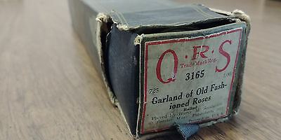QRS Piano Player Roll 3165- GARLAND OF OLD FASHIONED ROSES Ballad- Dated 1911