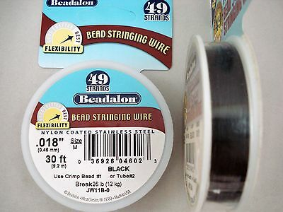 Beadalon Bead Stringing Wire 49 Strands JW11B-0 Jewellery Craft FREE POSTAGE