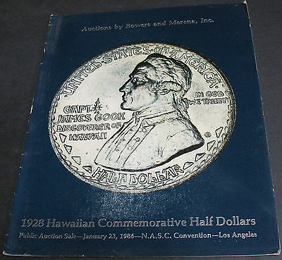 1928 Hawaiian Commemorative Half Dollars Auction 1986 Bowers & Merena