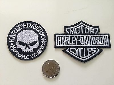 Lot Patch toppa aufnaher Écusson embroidered Harley Davidson thermocollant