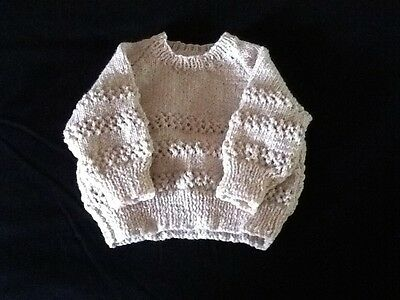 Hand Knitted New Baby Jumper 6 Months