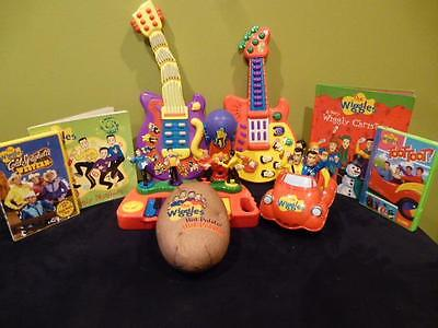 The Wiggles Red Car DVD Keyboard Hot Potato Original Microphone Wiggly Book Lot