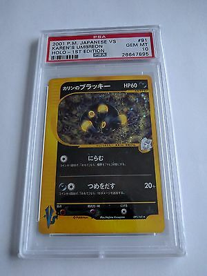 Japanese Pokemon Card Karen's Umbreon 1st Edition PSA 10