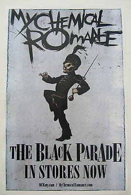 My Chemical Romance *The Black Parade* Promo Poster Gerard Way RARE Out Of Print