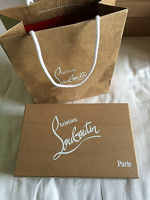 "Authentic christian louboutin empty box 10.7""×7""×3.6"" with paper bag"