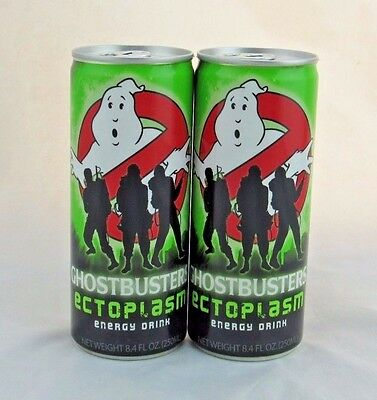 Ghostbusters Ectoplasm Energy Drink Lot of 2, Sealed